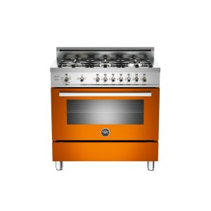 36 6-Burner, Gas Oven Orange - Orange