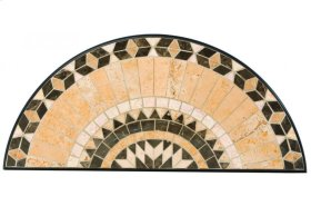 "Loretto 39"" x 17.5"" Marble Mosaic Half Moon Console Top"