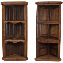 Old Wood Corner Bookcase