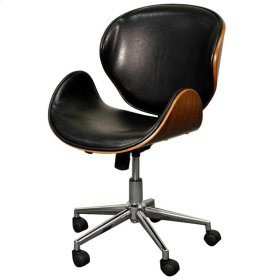 Zenon Office Chair, Black/Walnut
