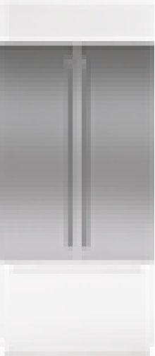 "Built-In 42"" French Door Stainless Steel Flush Inset Door Panel with Tubular Handle"