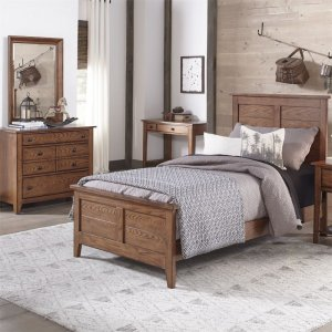 LIBERTY FURNITURE INDUSTRIESTwin Sleigh Bed, Dresser & Mirror