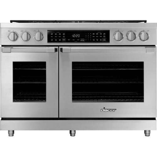 """48"""" Heritage Dual Fuel Pro Range, Silver Stainless Steel, Natural Gas"""