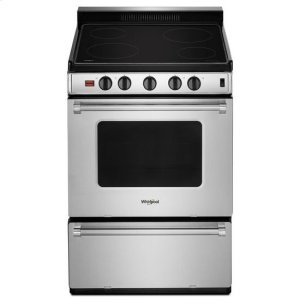 WhirlpoolWhirlpool(R) 24-inch Freestanding Electric Range with Upswept SpillGuard(TM) Cooktop - Stainless Steel