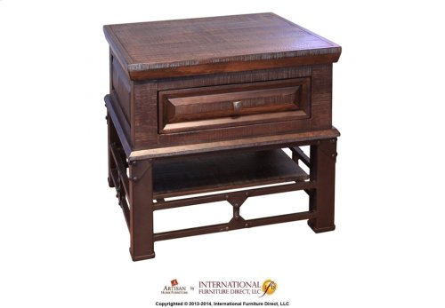 1 Drawer Chair Side Table*