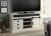 """67"""" TV Console With Sliding Door & Drawers"""