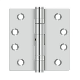 """4""""x 4"""" Square Hinge - Polished Stainless"""