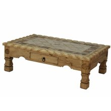 Coffee Table W/Rope,Stone&Star