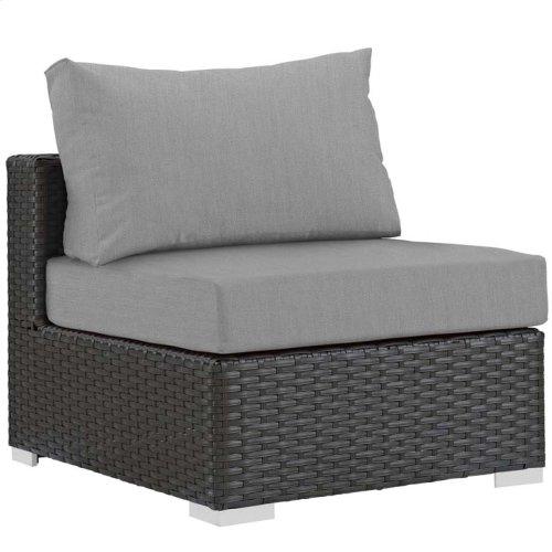 Sojourn Outdoor Patio Fabric Sunbrella® Armless in Canvas Gray