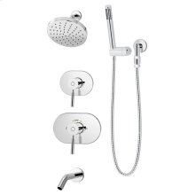 Symmons Sereno® Tub/Shower/Hand Shower System - Polished Chrome