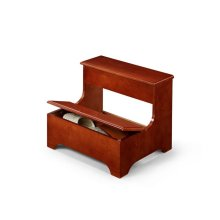 Traditional Wooden Stool With Lower Lift Top Storage