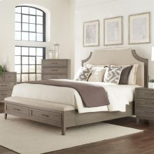 Vogue - Full/queen Upholstered Headboard - Gray Wash Finish