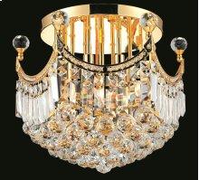 8949 Corona Collection Flush Mount Gold Finish