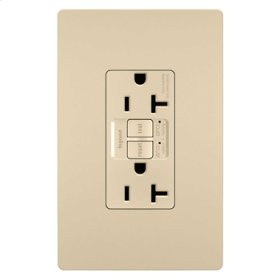 Dual Function Tamper-Resistant 20A AFCI/GFCI Receptacle, Ivory