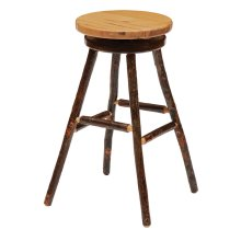"Round Barstool - 30"" high - Antique Oak seat"