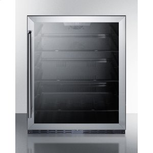 SummitBuilt-in Undercounter ADA Compliant All-refrigerator With Glass Door, Black Cabinet, Lock, and Digital Controls