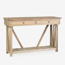 Wayne Console Table with Shelf (K/D) - Natural