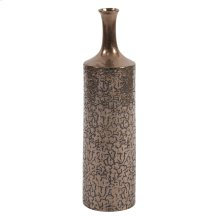 Crackled Metallic Bronze Vase, Small