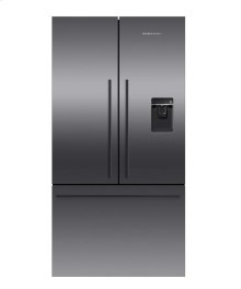 Black Stainless Steel French Door Refrigerator, 20.1 cu ft, Ice & Water