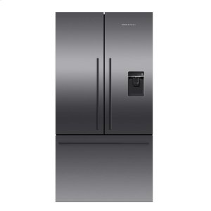 Fisher & PaykelBlack Stainless Steel French Door Refrigerator, 20.1 cu ft, Ice & Water