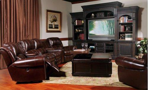 7 Pc.Top Grain Leather Poseidon Sectional Sofa Set - Cocoa - Parker Living