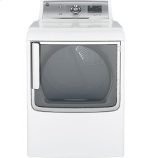 (DISCONTINUED FLOOR 1 ONLY) GE® 7.8 cu. ft. capacity electric dryer with stainless steel drum and steam