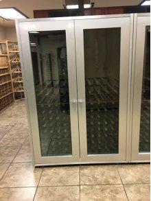 Brushed Aluminum Wine Cabinet (Scratch n Dent)