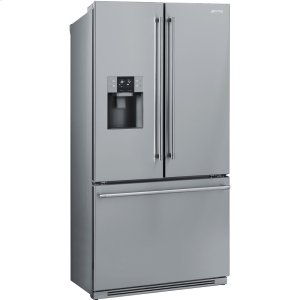 "Smeg90 CM (Approx 36""), French-Door Refrigerator/Freezer, 2 doors & 1 drawer, Stainless Steel"