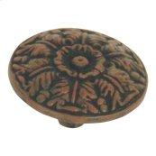 Hammered Medallion Knob 1 1/2 Inch - Rust