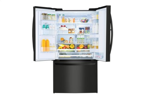 LG Matte Black Stainless Steel 28 cu.ft. 3-Door Refrigerator with Door-in-Door®