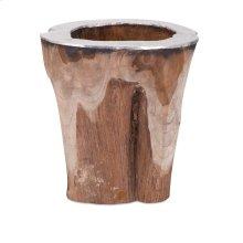 Abaco Teak and Aluminum Vase
