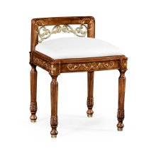 Burl & Mother of Pearl Dressing Stool (COM)