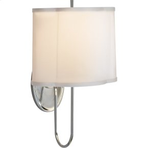 Visual Comfort BBL2017SS-S Barbara Barry Simple 1 Light 9 inch Soft Silver Decorative Wall Light