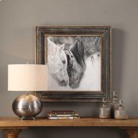 Custom Black and White Horses Framed