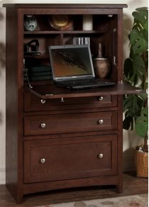 Cappuccino Laptop Armoire Product Image