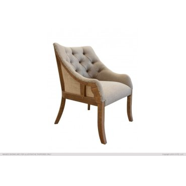 Tufted Arm Chair, w/ deconstructed curve backrest