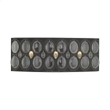 Serai 3-Light Vanity Sconce in Oil Rubbed Bronze with Clear Soda Bottle Glass