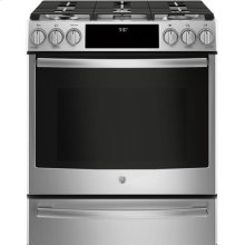 Slide-In Front Control 5.6 cu. Ft. Dual Fuel Convection Range, Wifi Connectivity, Self-Cleaning