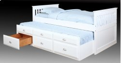 Logan Twin Captain's Bed - White