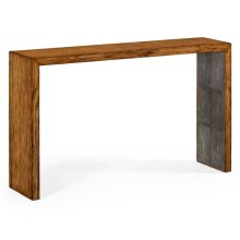 Argentinian Walnut & Anthracite Faux Shagreen Console