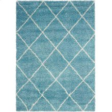 Brisbane Bri03 Aqua Rectangle Rug 5' X 7'