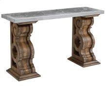 Shop Floor Double Pedestal Console Table