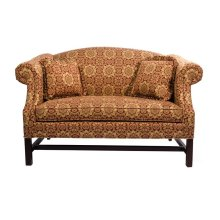 Loveseat with Cherry Chippendale Base