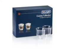 The DeLonghi Creamy Collection Set of Six Cappuccino Glasses