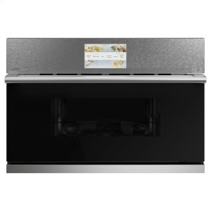 "Cafe AppliancesCafe 30"" Smart Five in One Wall Oven with 240V Advantium ® Technology in Platinum Glass"
