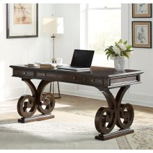 "66"" Scroll Leg Writing Desk"