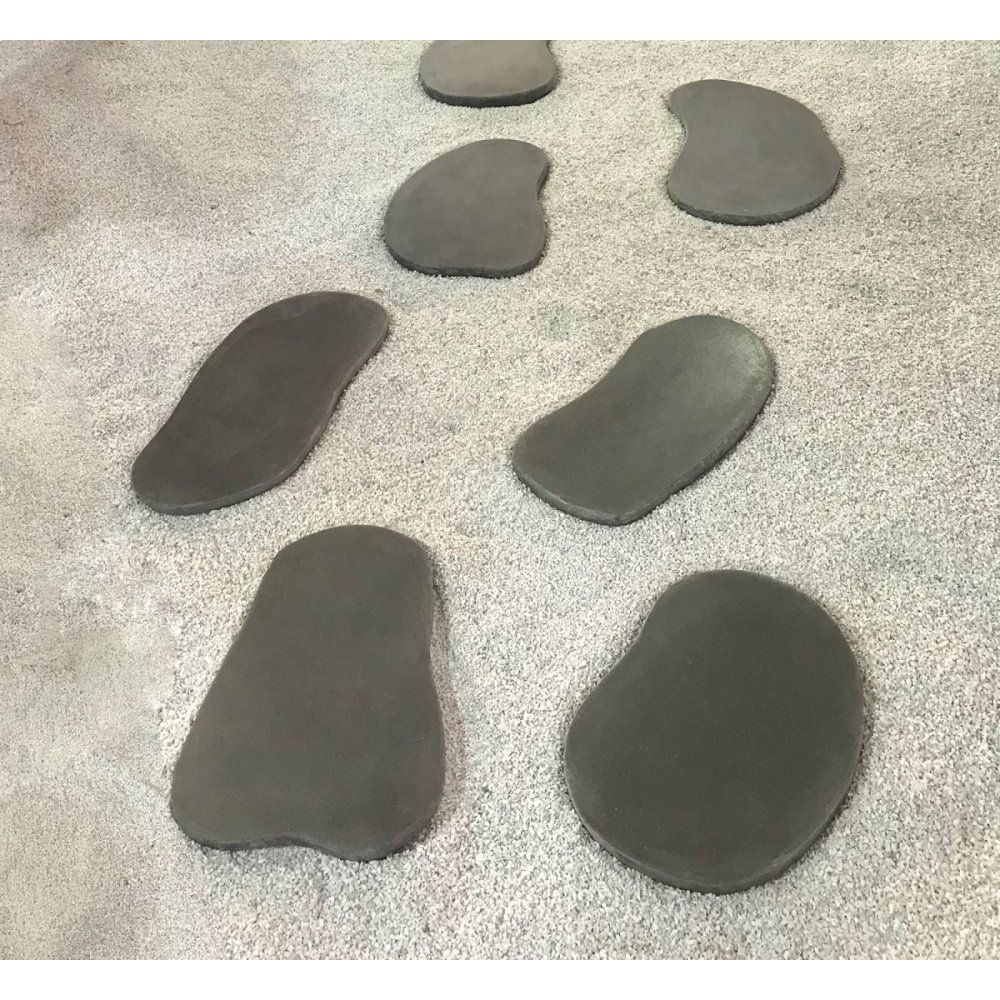 Renava Ouray Outdoor Grey Concrete Stepping Stones (Set of 6)