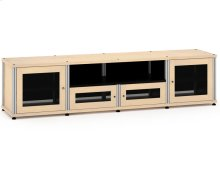 Synergy Solution 245, Quad-Width AV Cabinet, Maple with Aluminum Posts