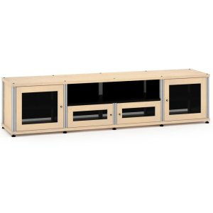 Salamander DesignsSynergy Solution 245, Quad-Width AV Cabinet, Maple with Aluminum Posts