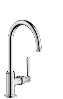 Chrome Montreux Single-Hole Faucet without Pop-Up, Tall, 1.2 GPM